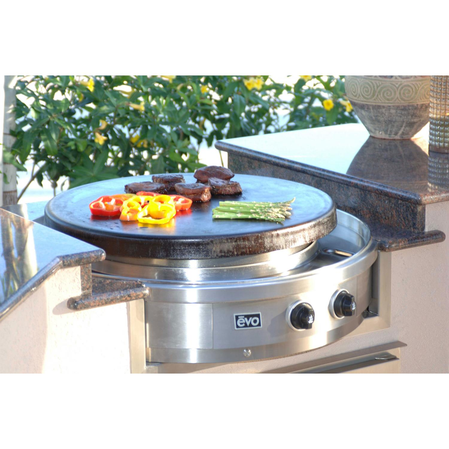 Evo Affinity 30G Built-In Flat-Top Propane Gas Grill - 10-0055-LP