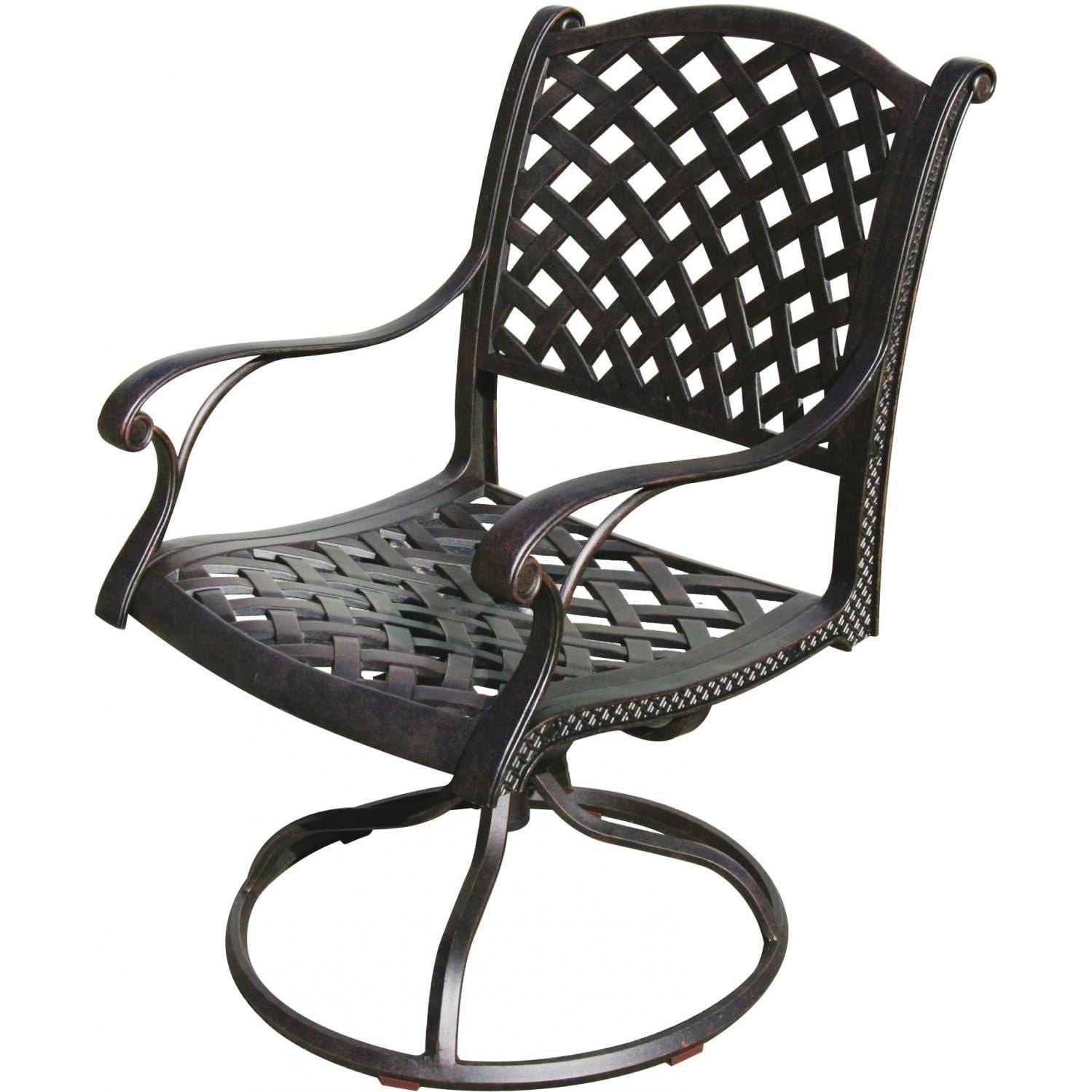 Darlee Nassau Cast Aluminum Patio Swivel Rocker Chair