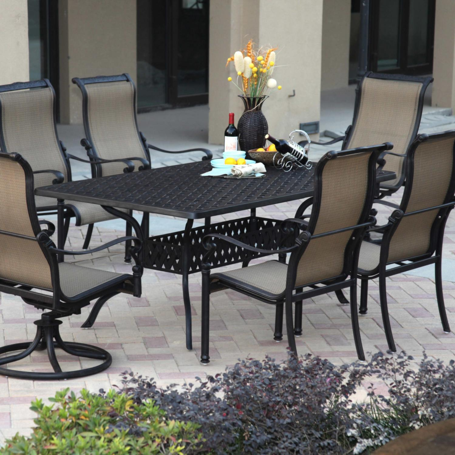 Darlee Monterey 7 Piece Sling Patio Dining Set