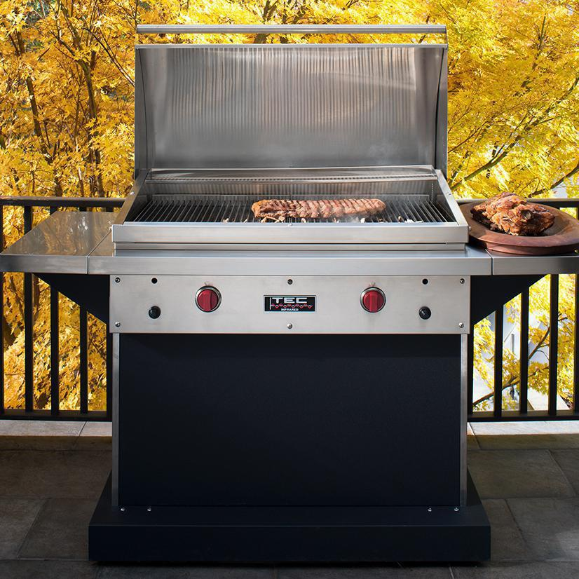 TEC Patio FR 44-Inch Black Pedestal Grill | The Outdoor Store