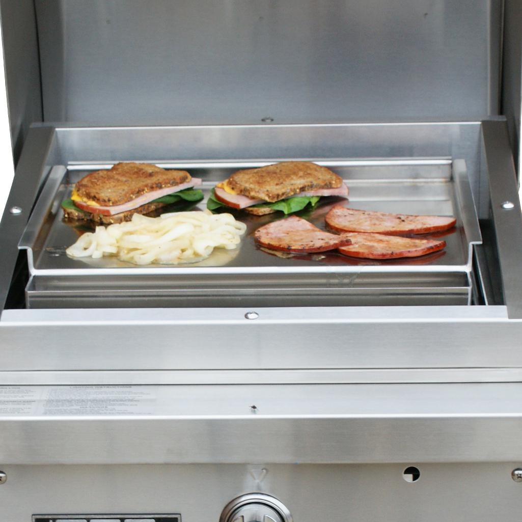 TEC Patio FR Series Stainless Steel Griddle - Full View (Shown on Grill - Not Included)