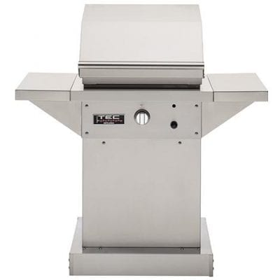 TEC Sterling Patio FR 26-Inch Freestanding Infrared Natural Gas Grill On Stainless Pedestal