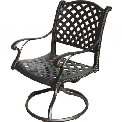 Darlee Nassau Swivel Rocker Patio Dining Chair - Antique Bronze
