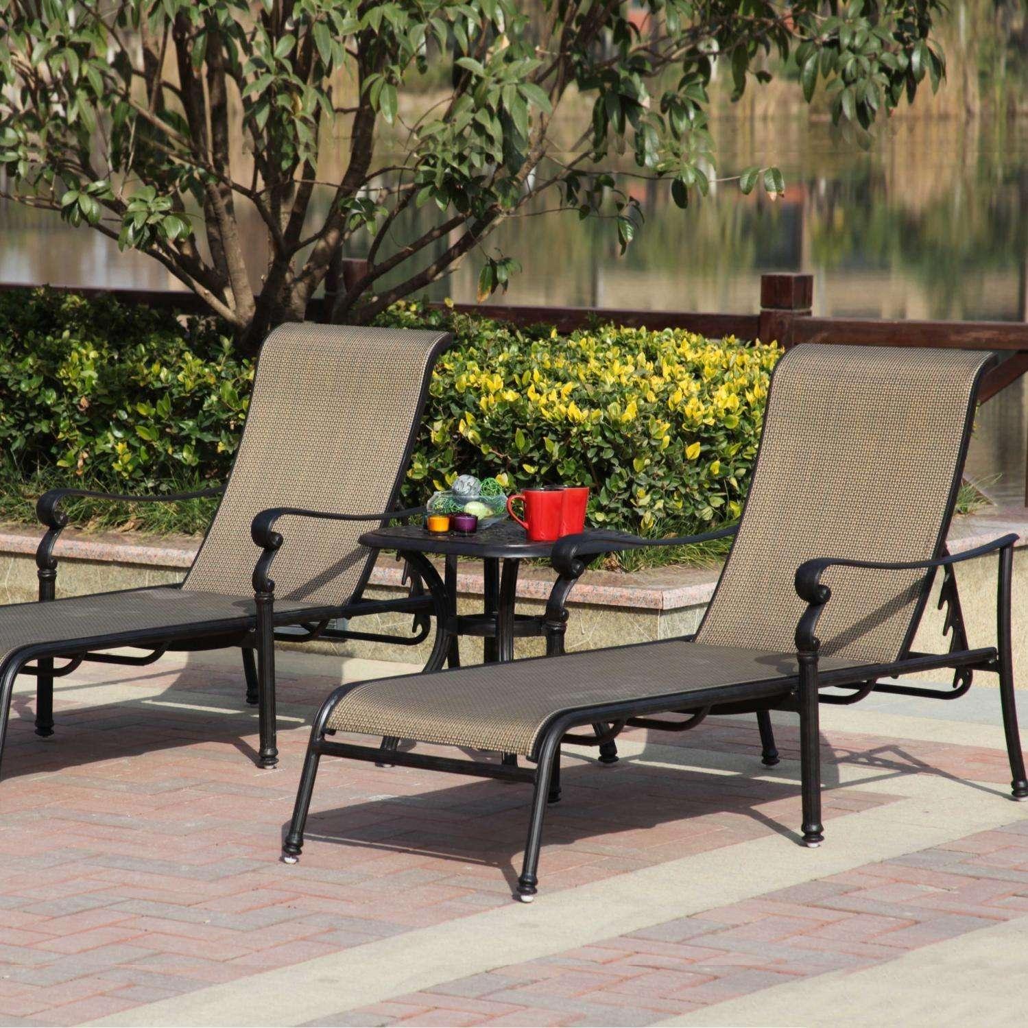 Darlee Monterey 3 Piece Chaise Lounge Set