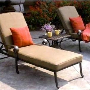 Darlee Santa Monica 3 Piece Patio Chaise Lounge Set