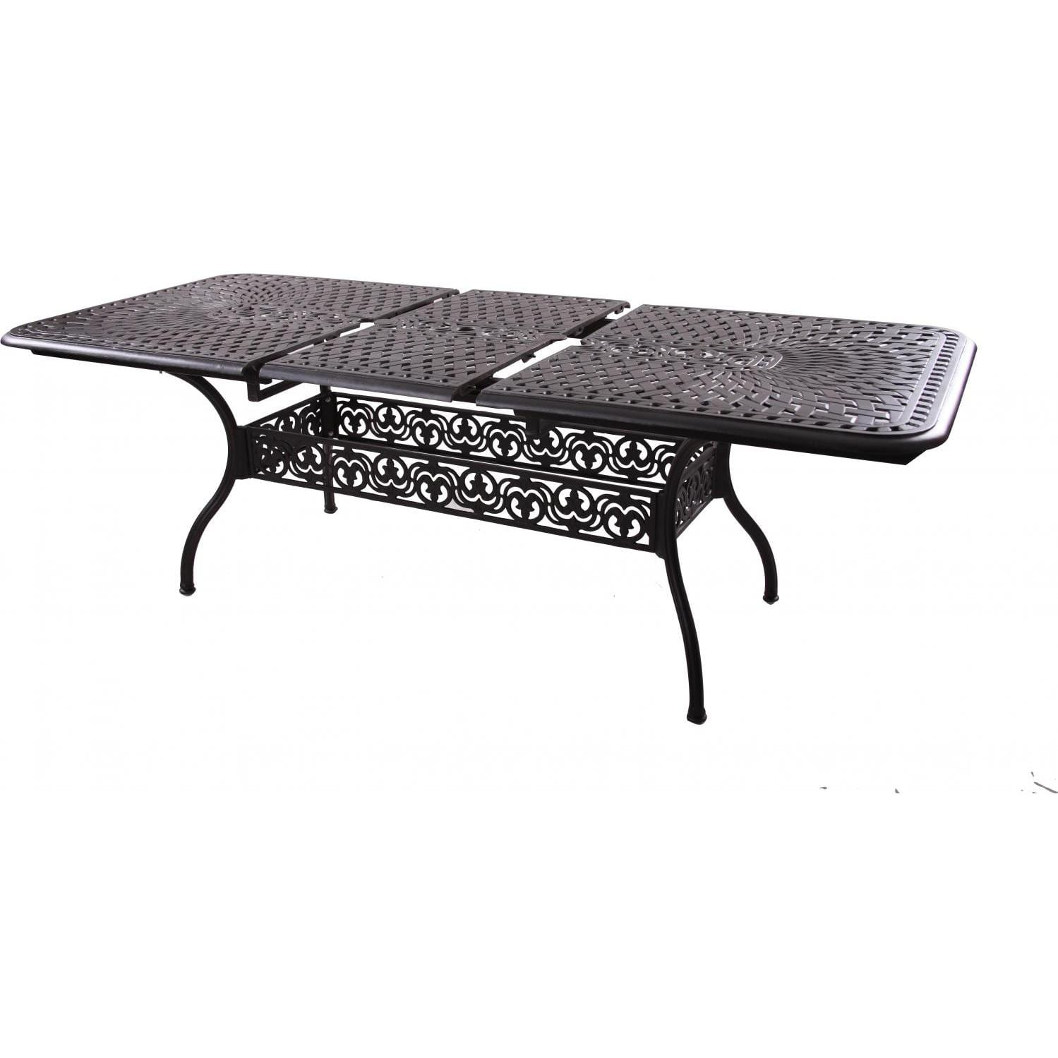 Darlee Series 60 Cast Aluminum Patio Extension Dining Table