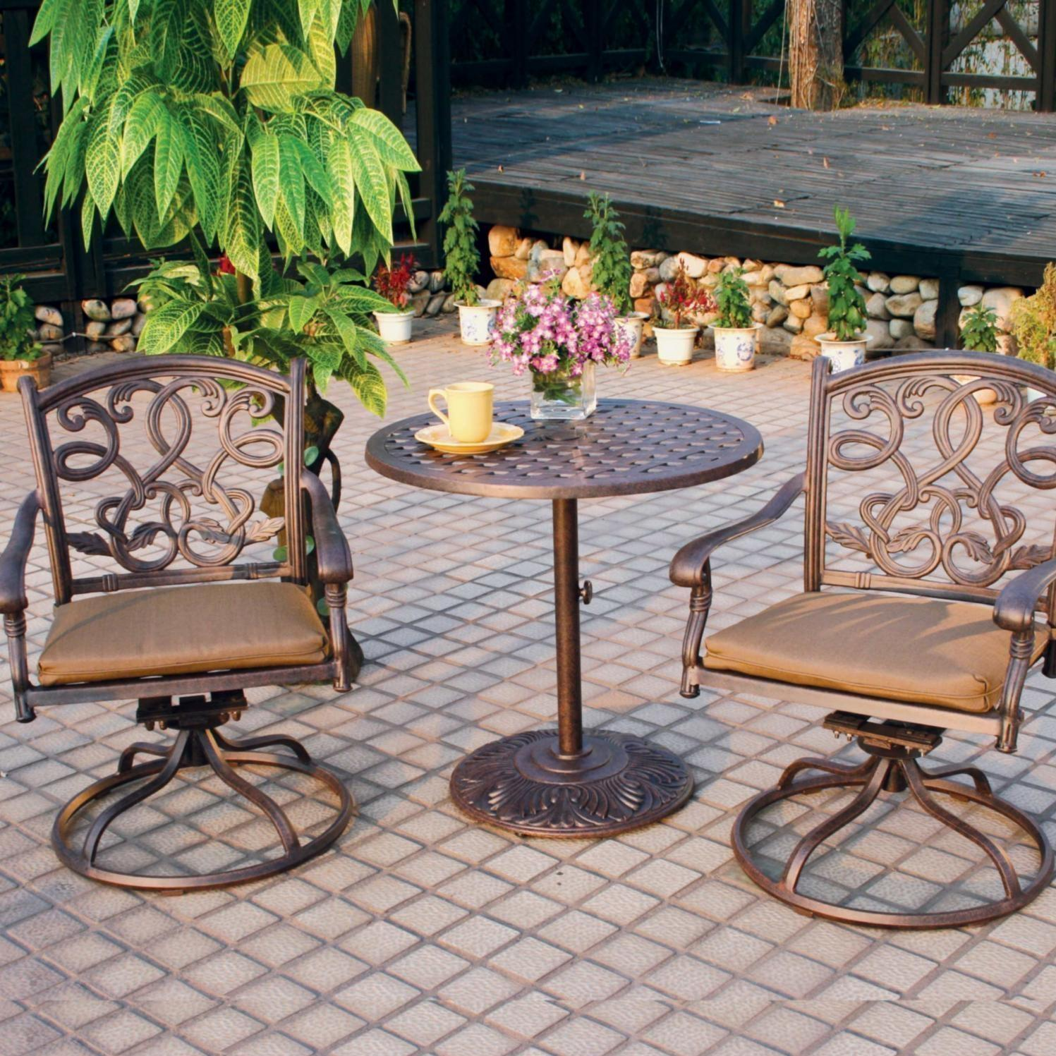 Darlee Santa Monica 3 Piece Patio Bistro Set