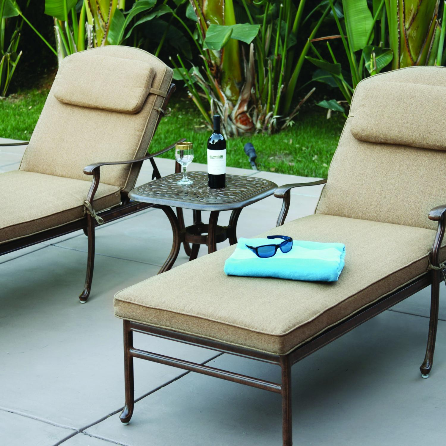 Darlee Sedona 3 Piece Patio Chaise Lounge Set