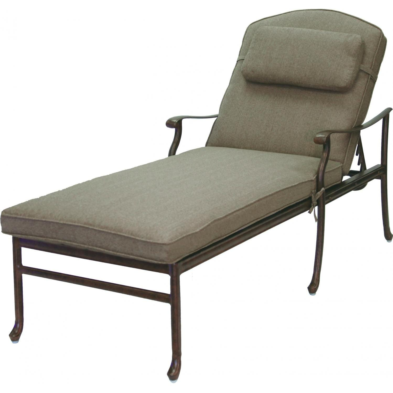 Darlee sedona 3 piece patio chaise lounge set cast for Chaise aluminium