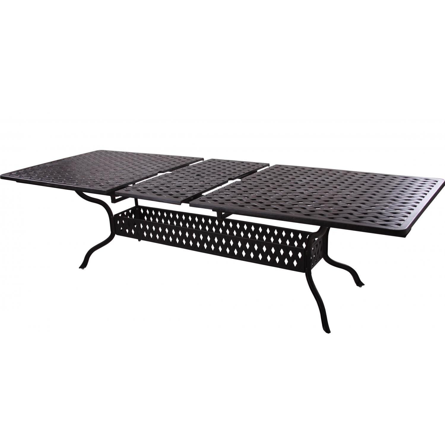 Darlee Series 30 Rectangular Extension Patio Dining Table - Extended