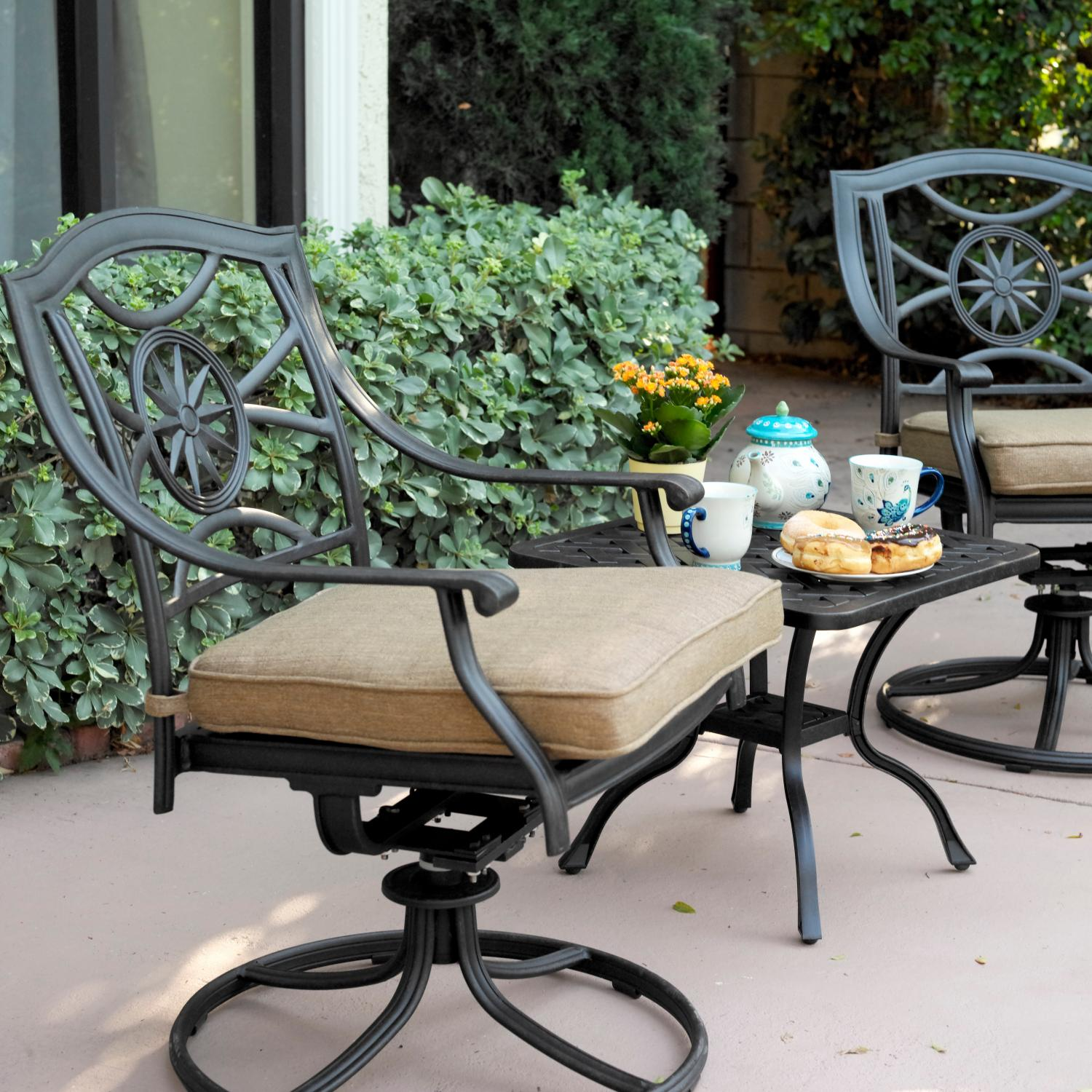 Darlee Ten Star 3 Piece Patio Bistro Set