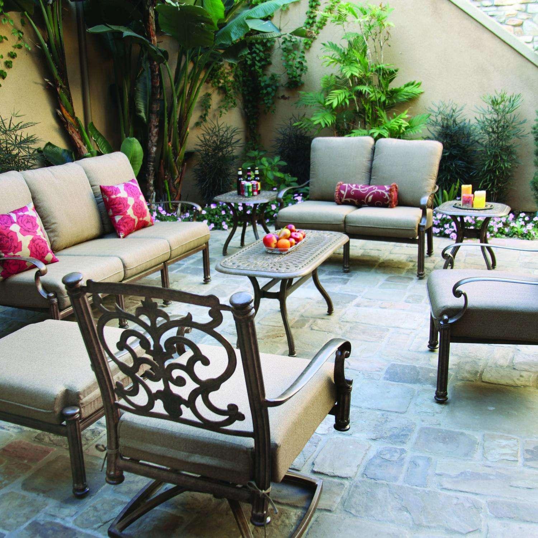 Darlee Santa Barbara 8 Piece Aluminum Conversation Seating Set