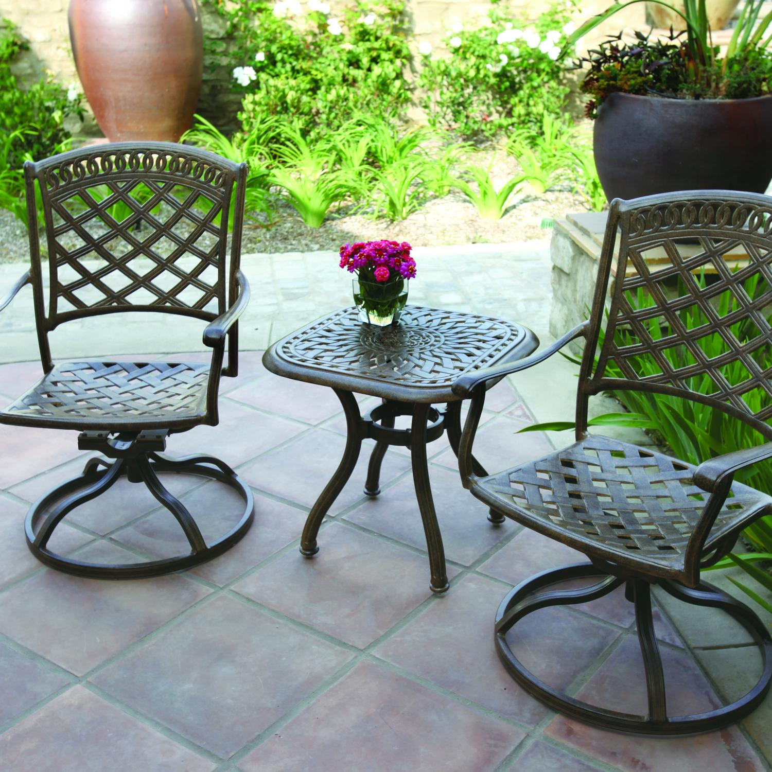 Darlee Sedona 3 Piece Patio Bistro Set