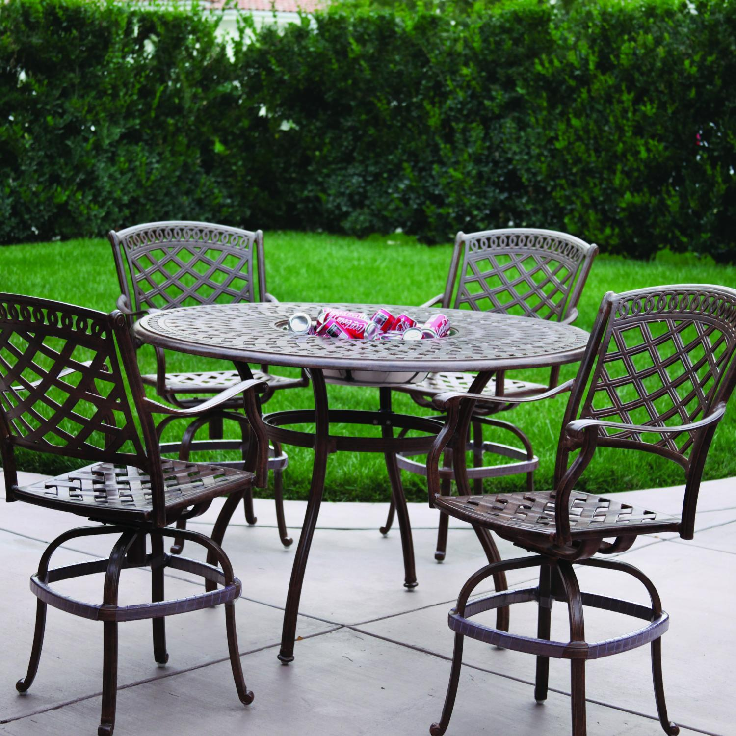 - Darlee Sedona 5 Piece Cast Aluminum Patio Bar Set