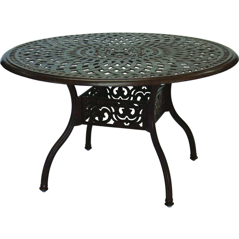 Darlee Series 60 Cast Aluminum Patio Dining Table