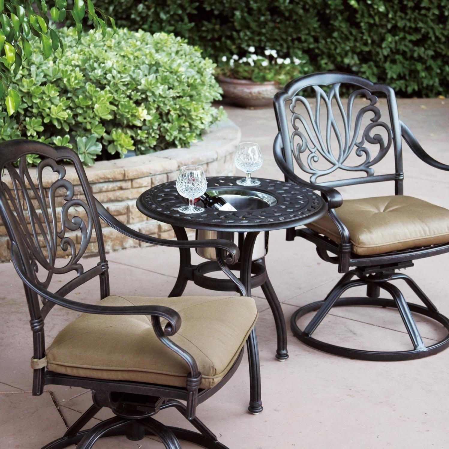 Darlee Elisabeth 3 Piece Cast Aluminum Patio Bistro Set
