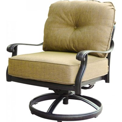 Darlee Elisabeth Cast Aluminum Swivel Rocker Patio Club Chair