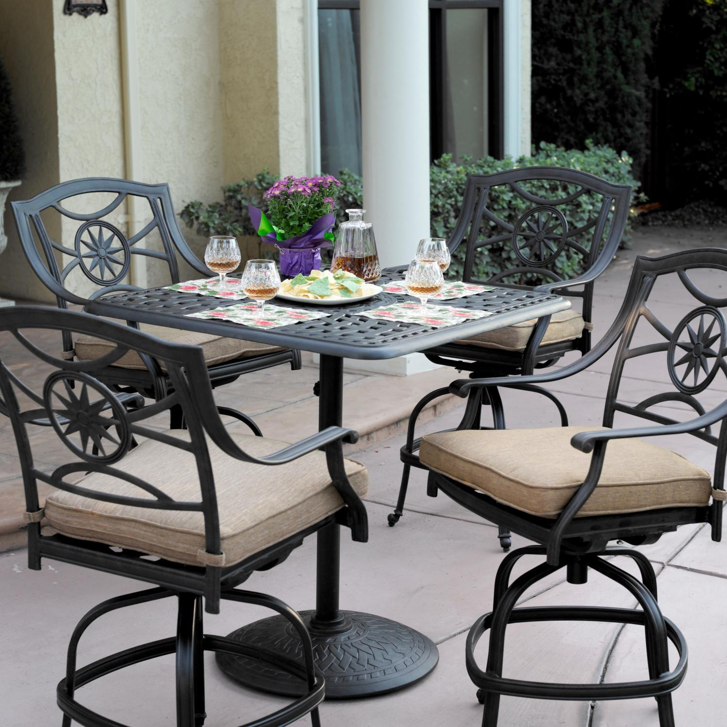 Darlee Ten Star 5 Piece Counter Height Patio Bar Set