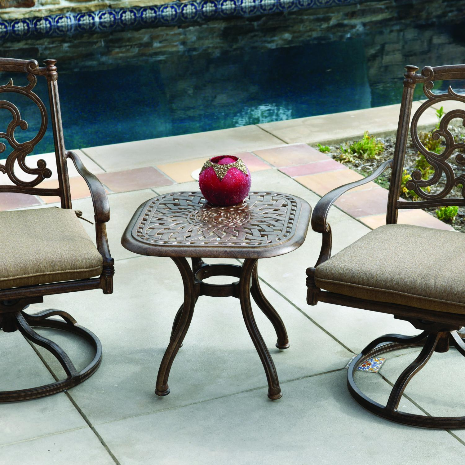 Darlee Santa Barbara 3 Piece Patio Bistro Set