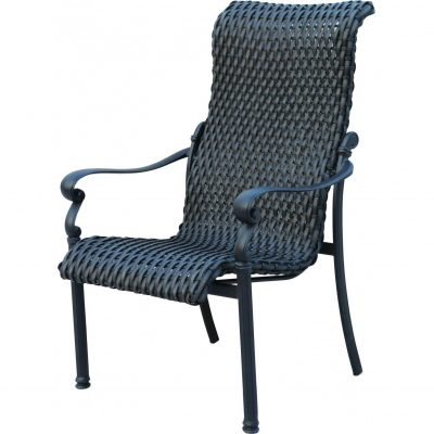Darlee Victoria Resin Wicker Patio Dining Chair - Espresso