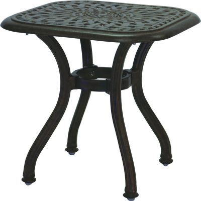 Darlee Series 60 Patio End Table - Antique Bronze