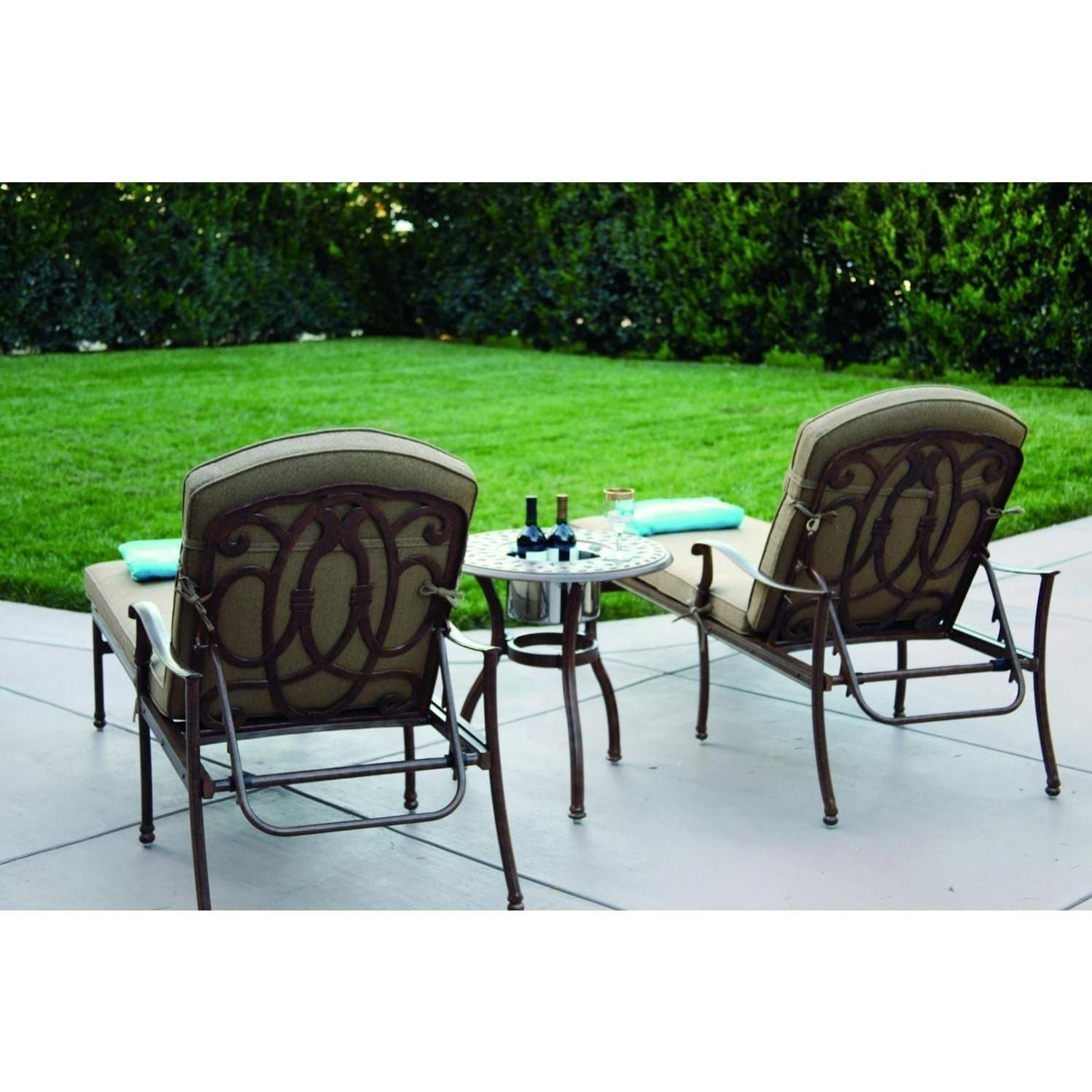 Darlee Florence 3 Piece Patio Chaise Lounge Set