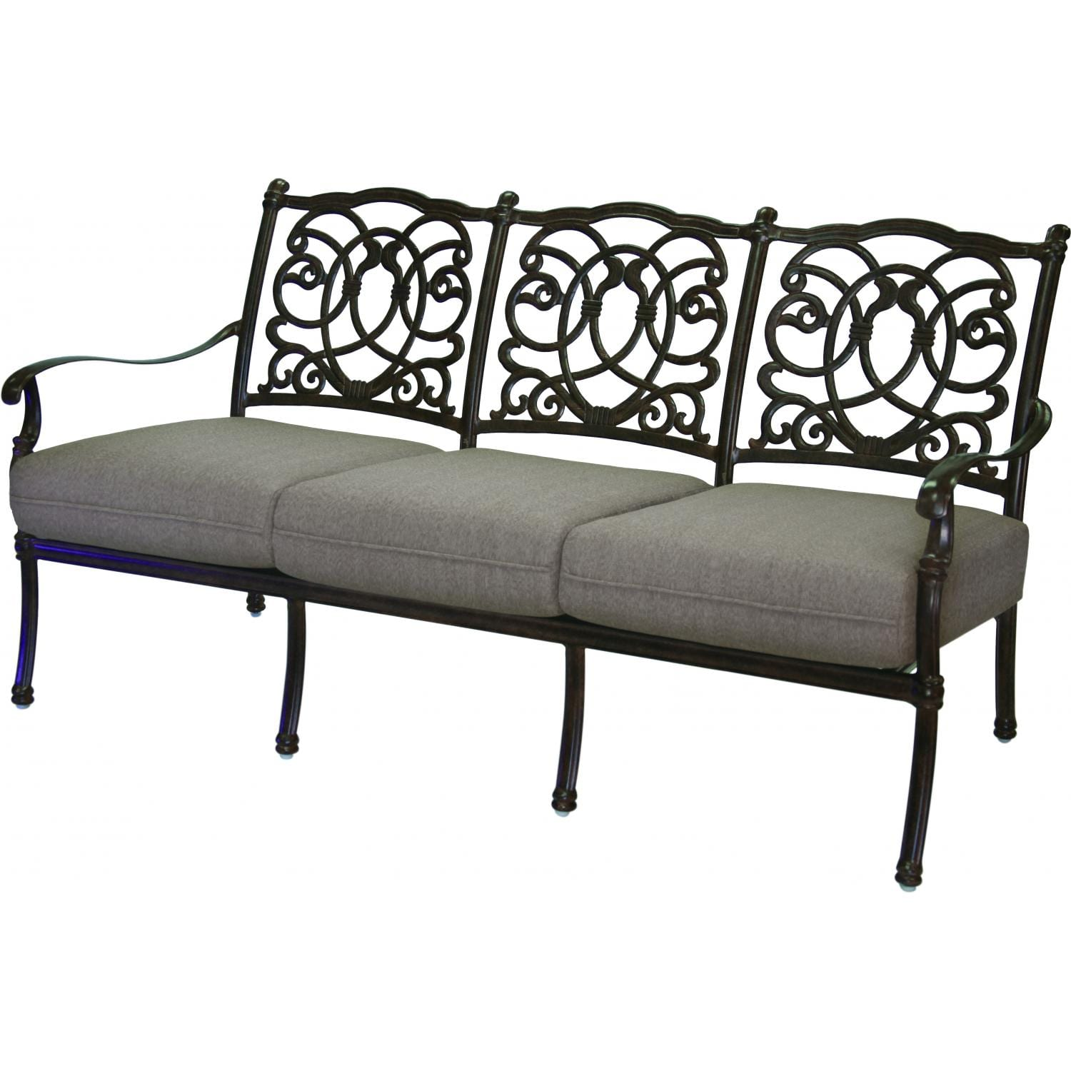 Darlee Florence Cast Aluminum Patio Sofa