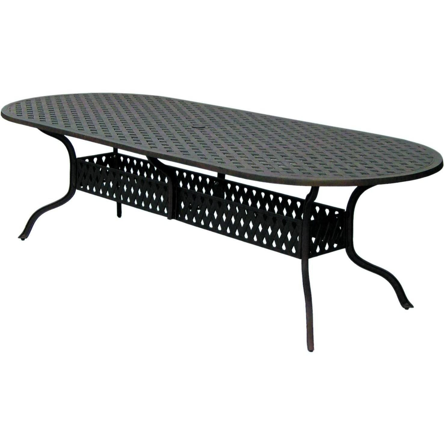 Wondrous Darlee Santa Monica 9 Piece Cast Aluminum Patio Dining Set With Oval Table Home Interior And Landscaping Palasignezvosmurscom