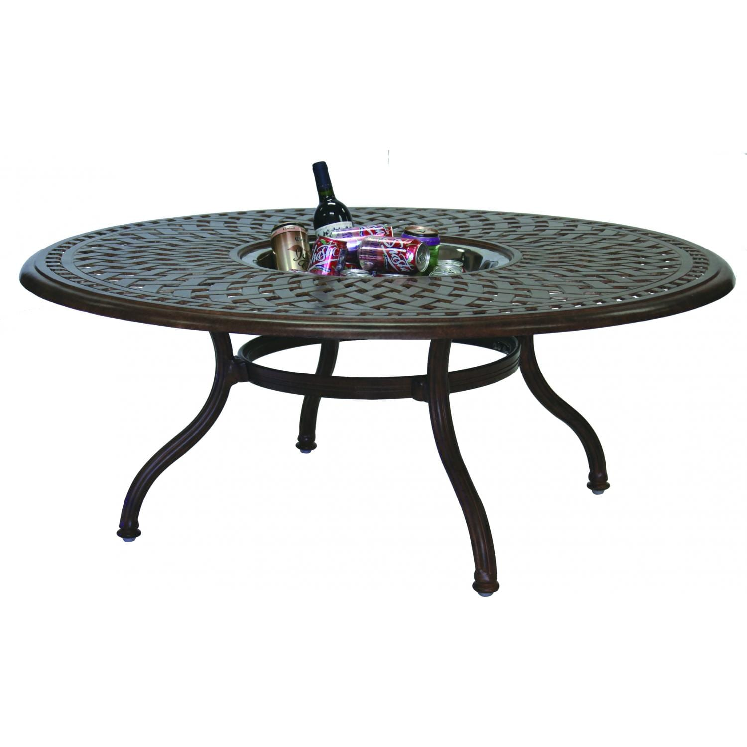 Darlee Series 60 52 Inch Cast Aluminum Patio Chat Table