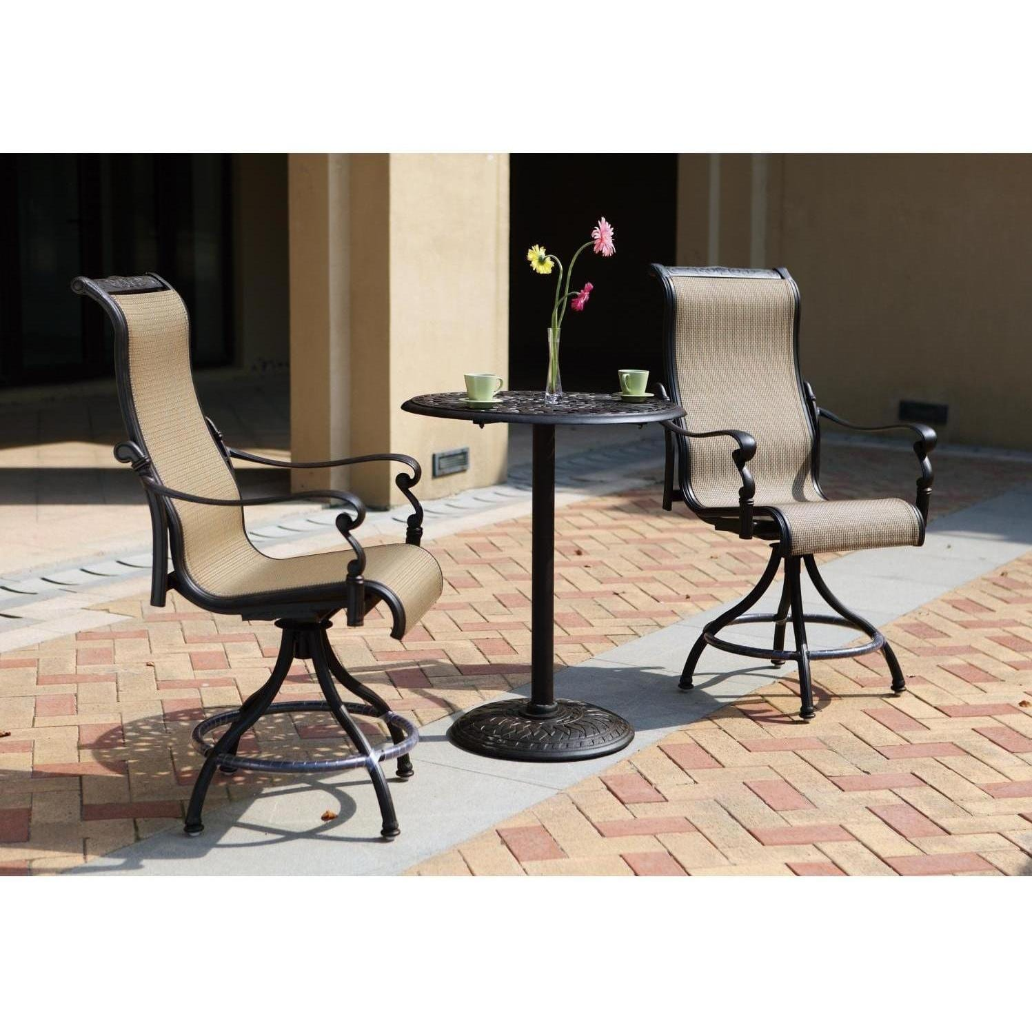 Darlee Monterey 3 Piece Patio Counter Height Bar Set