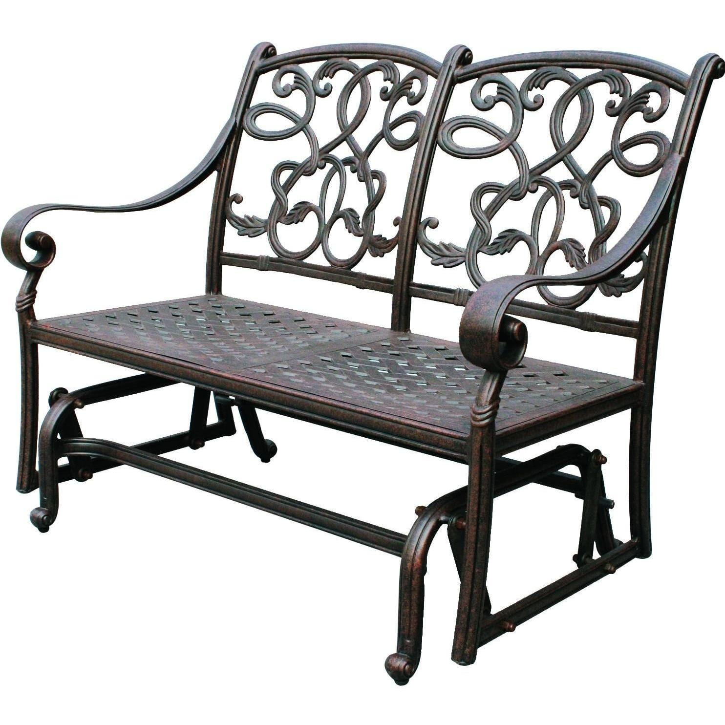 Darlee Santa Monica Cast Aluminum Patio Loveseat Glider