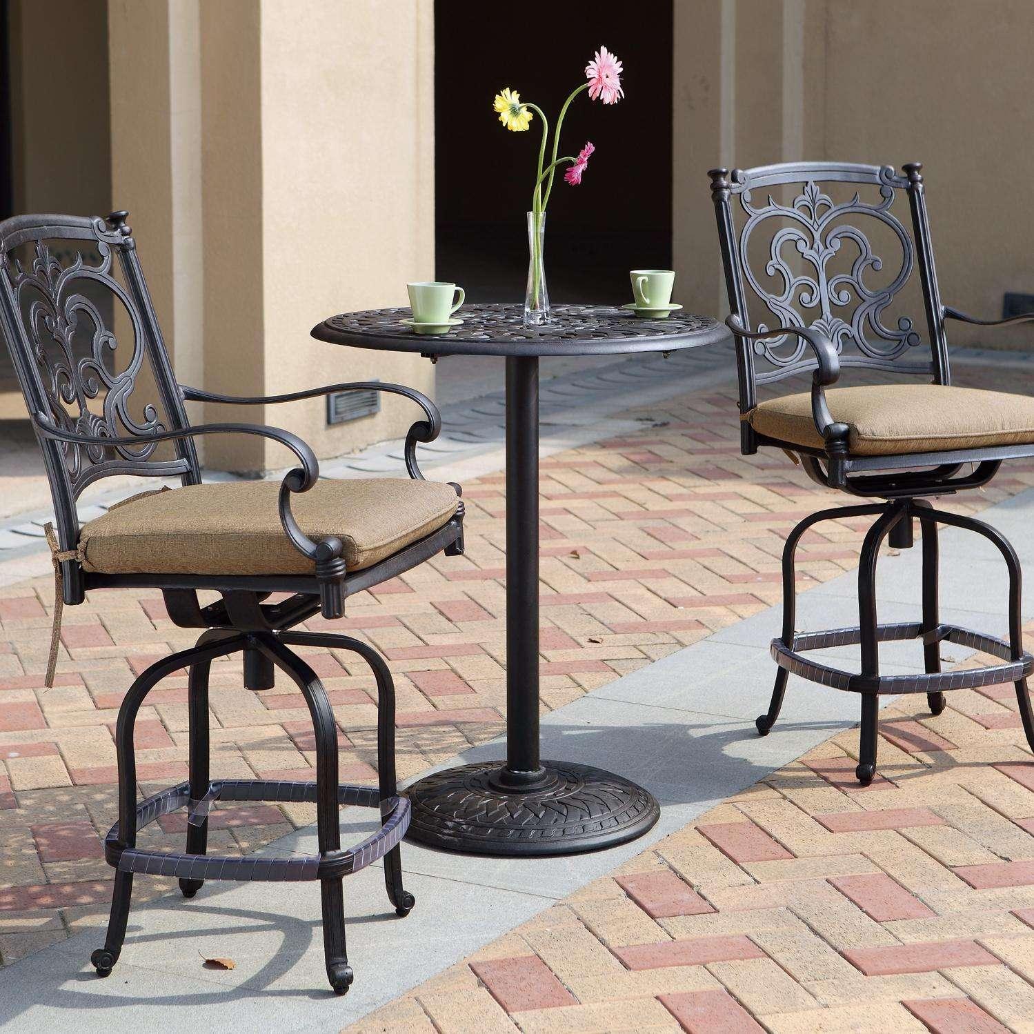 Darlee Santa Barbara 3 Piece Counter Height Bar Set