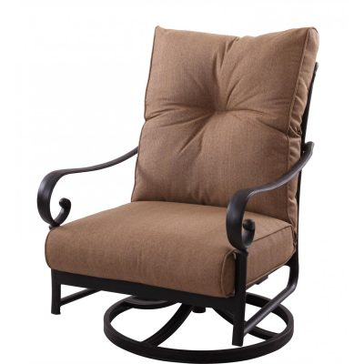 Darlee Santa Anita Patio Deep Seating Swivel Rocker Lounge Chair - Antique Bronze