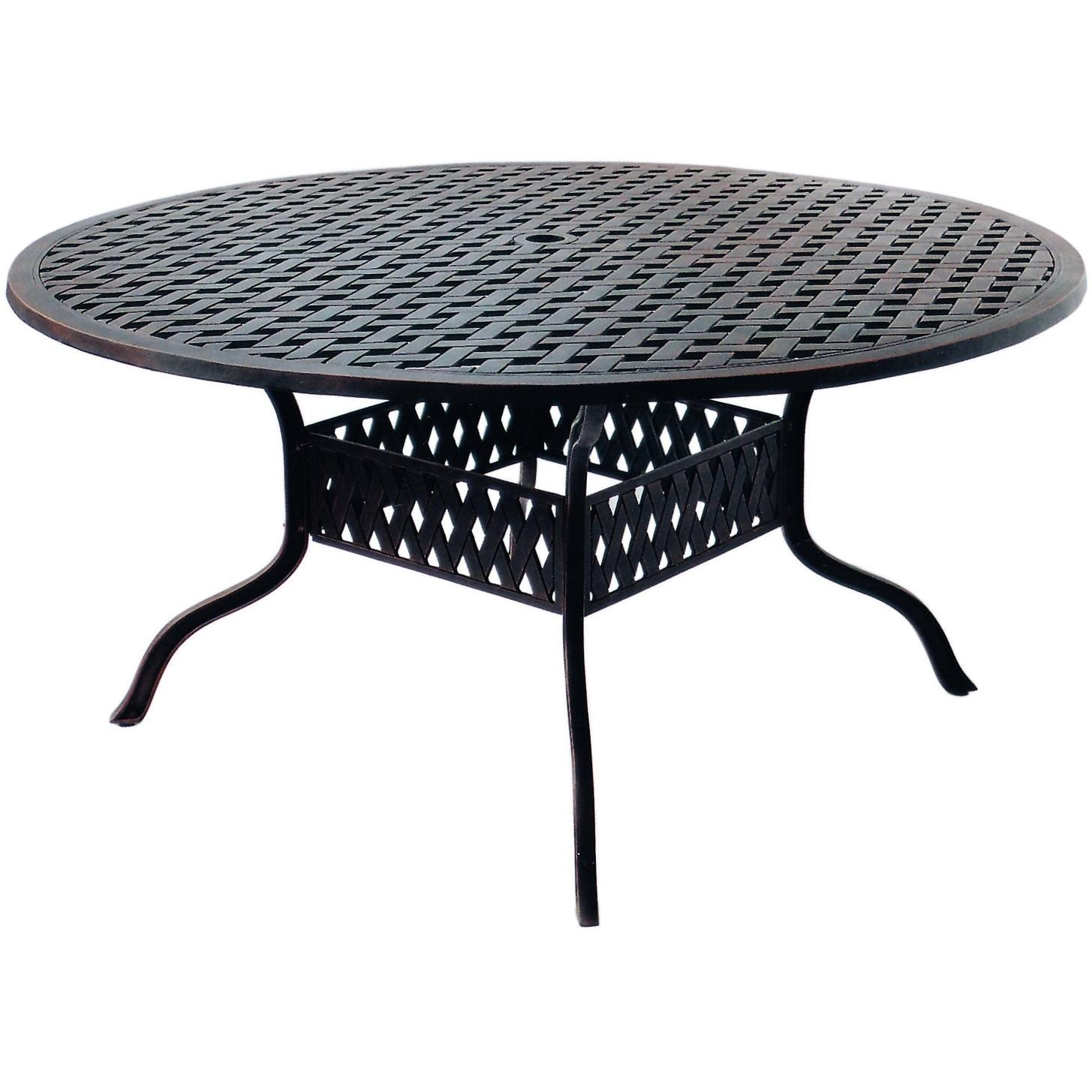 Darlee Series 30 60-Inch Cast Aluminum Patio Dining Table
