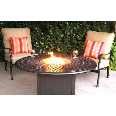 Darlee Florence Deep Seating Patio Fire Pit Lounge Set - Antique Bronze
