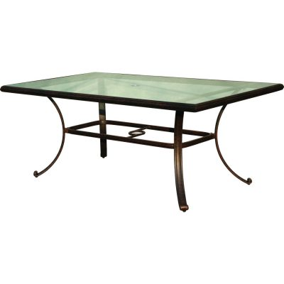 Darlee Series 50 Glass Top Patio Dining Table - Antique Bronze