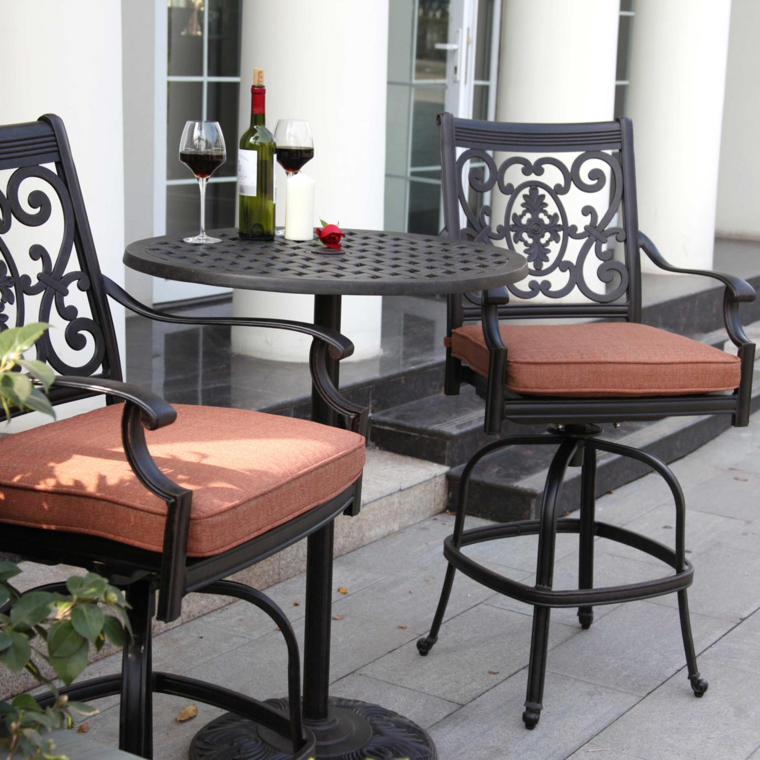 Darlee St Cruz 3 Piece Patio Counter Height Bar Set