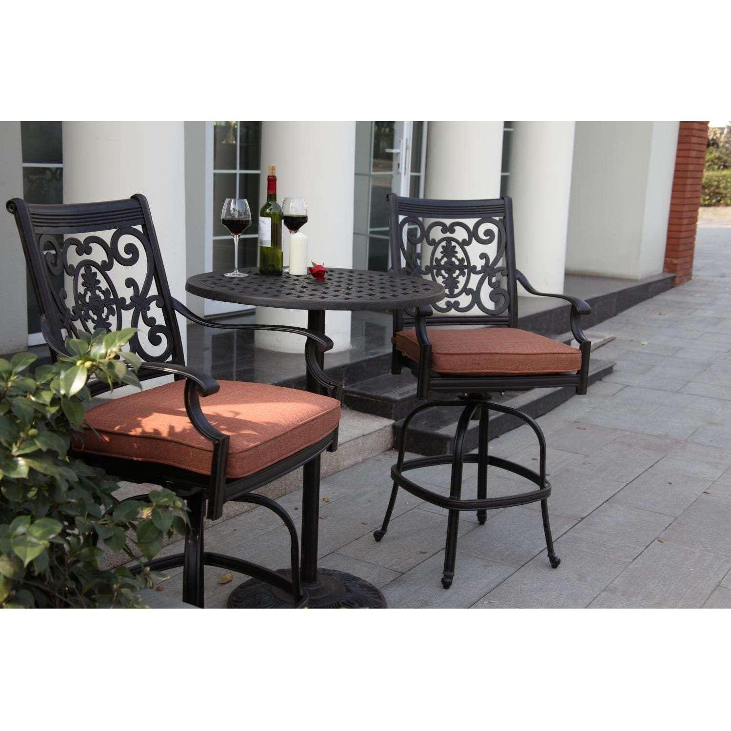 darlee st cruz 3 piece patio counter height bar set. Black Bedroom Furniture Sets. Home Design Ideas