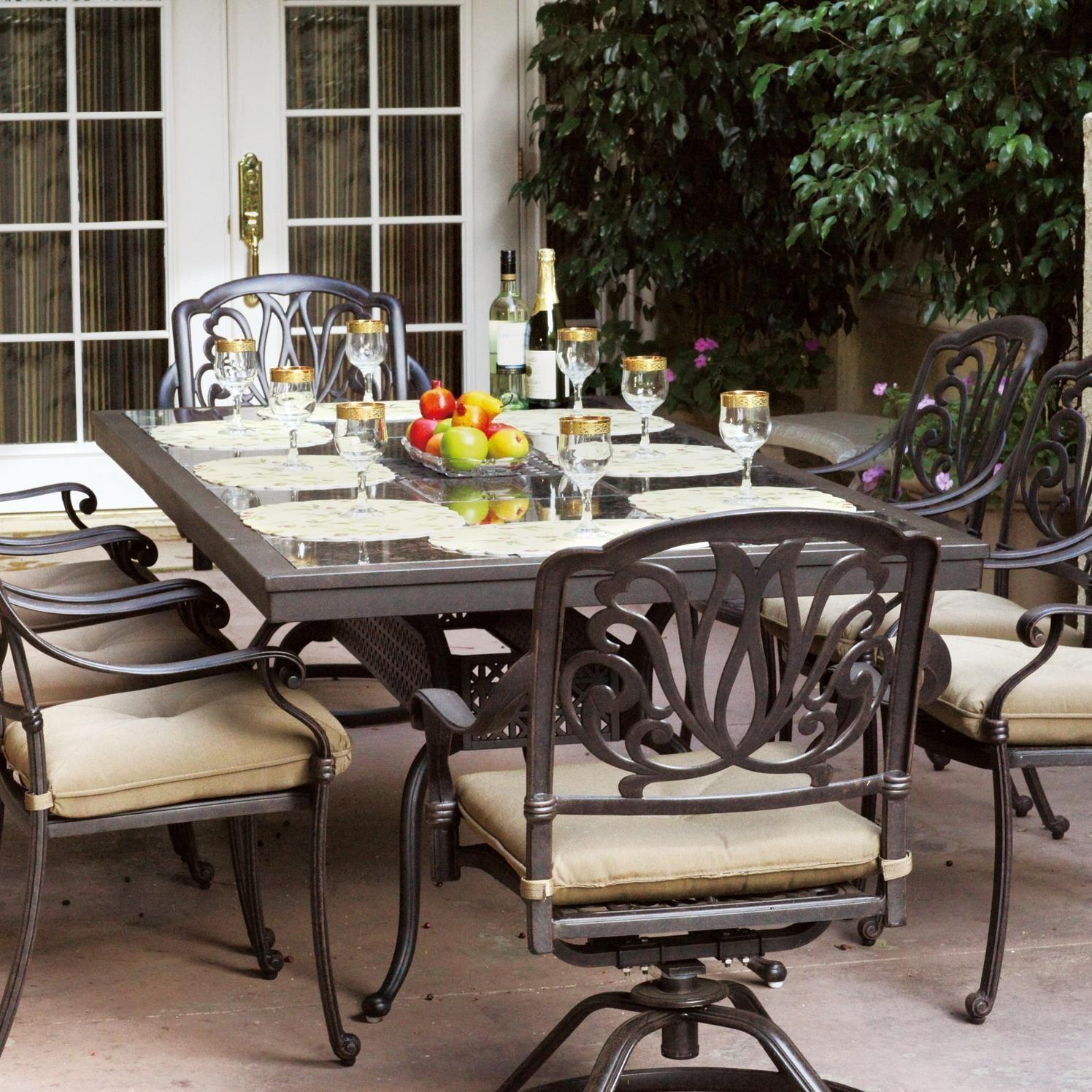 Beau Darlee Elisabeth 9 Piece Cast Aluminum Patio Dining Set