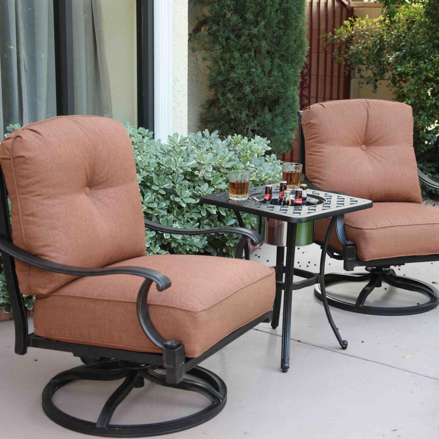 Darlee Charleston Patio Lounge Set   Antique Bronze