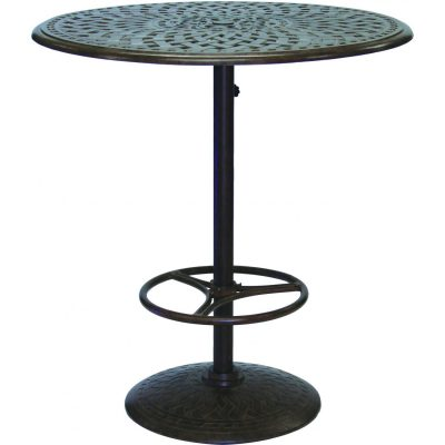 Darlee Series 60 Patio Pedestal Bar Table - Antique Bronze