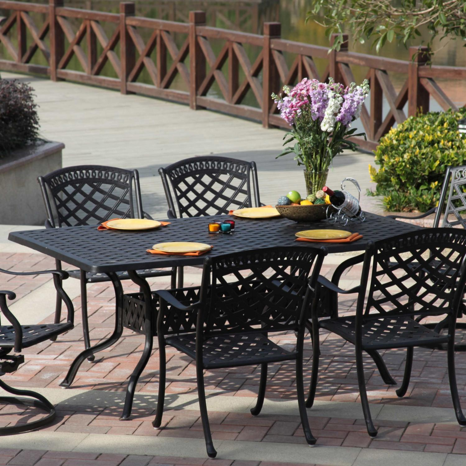 Darlee Sedona 7 Piece Cast Aluminum Patio Dining Set