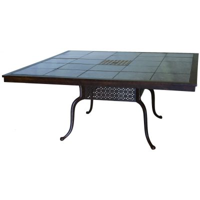 Darlee Series 77 Patio Dining Table - Mocha / Brown Granite Tile