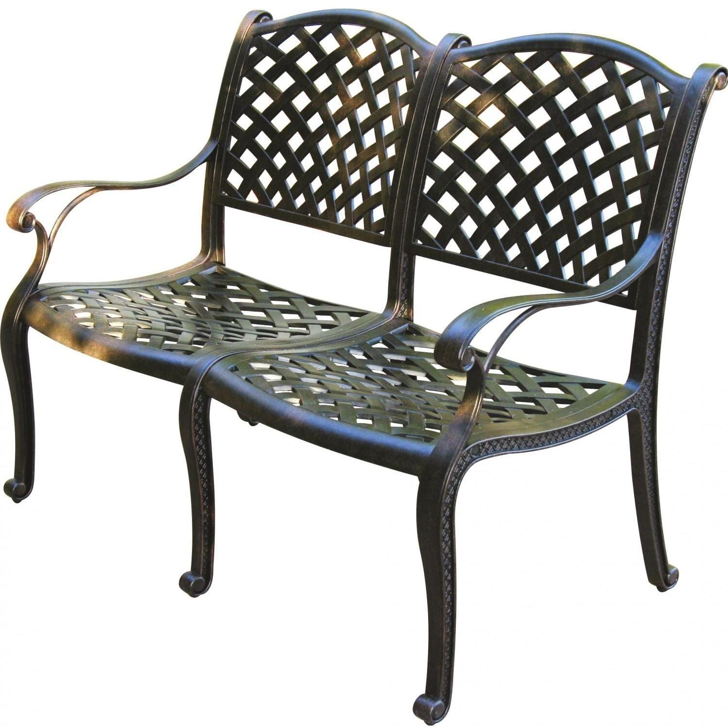 Darlee Nassau Cast Aluminum Patio Bench
