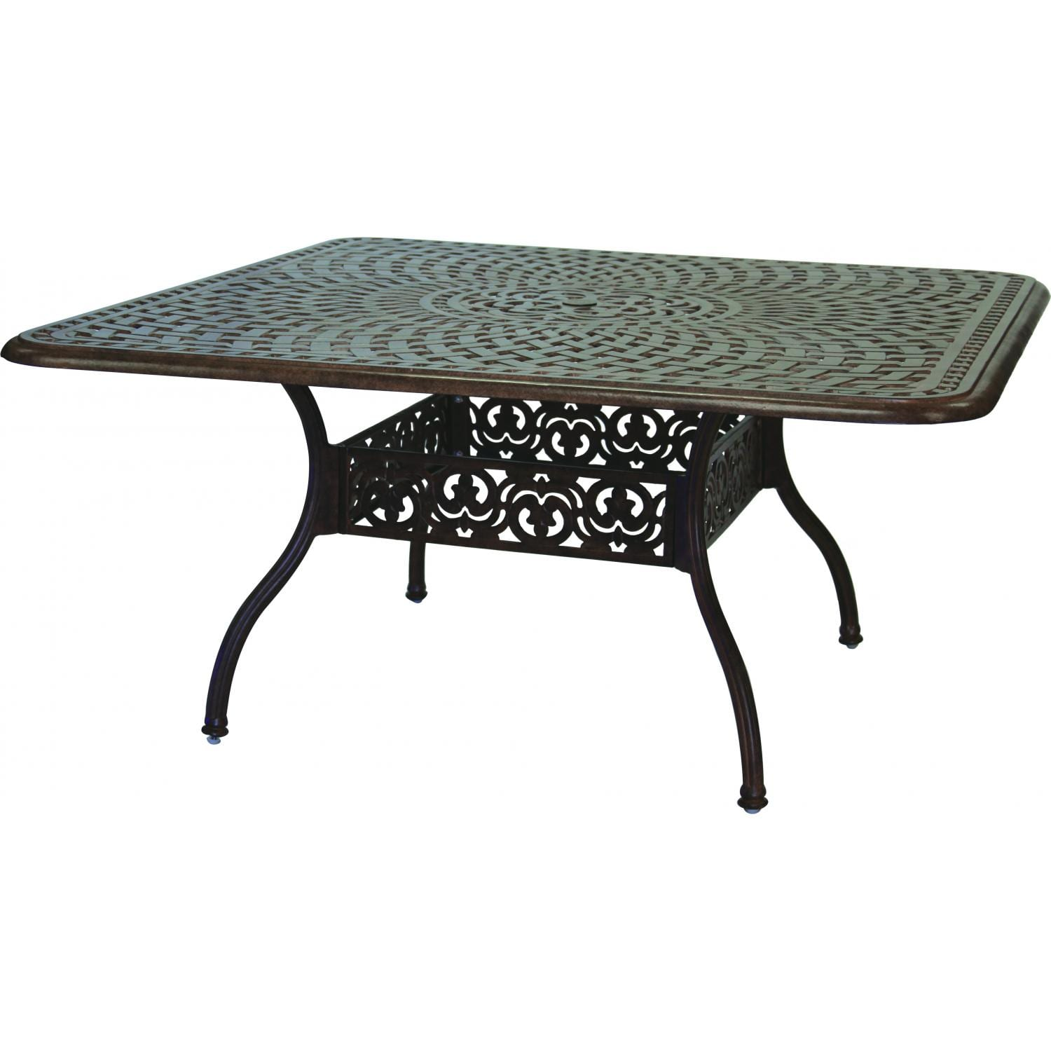 Darlee Series 60 60-Inch Cast Aluminum Patio Dining Table