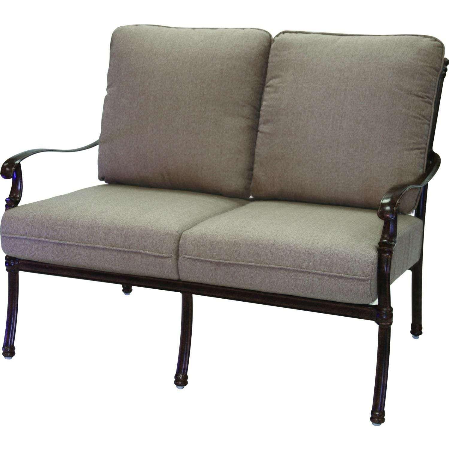 Darlee Florence 6 Piece Cast Aluminum Conversation Seating Set
