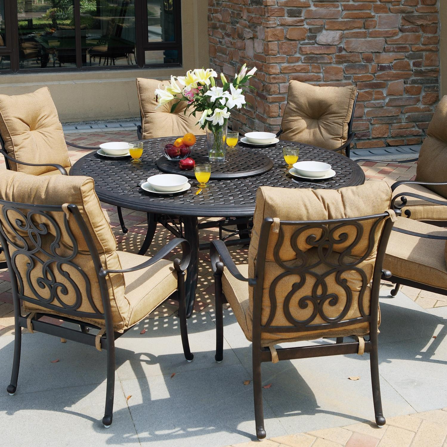 Darlee Santa Anita 9 Piece Cast Aluminum Patio Dining Set