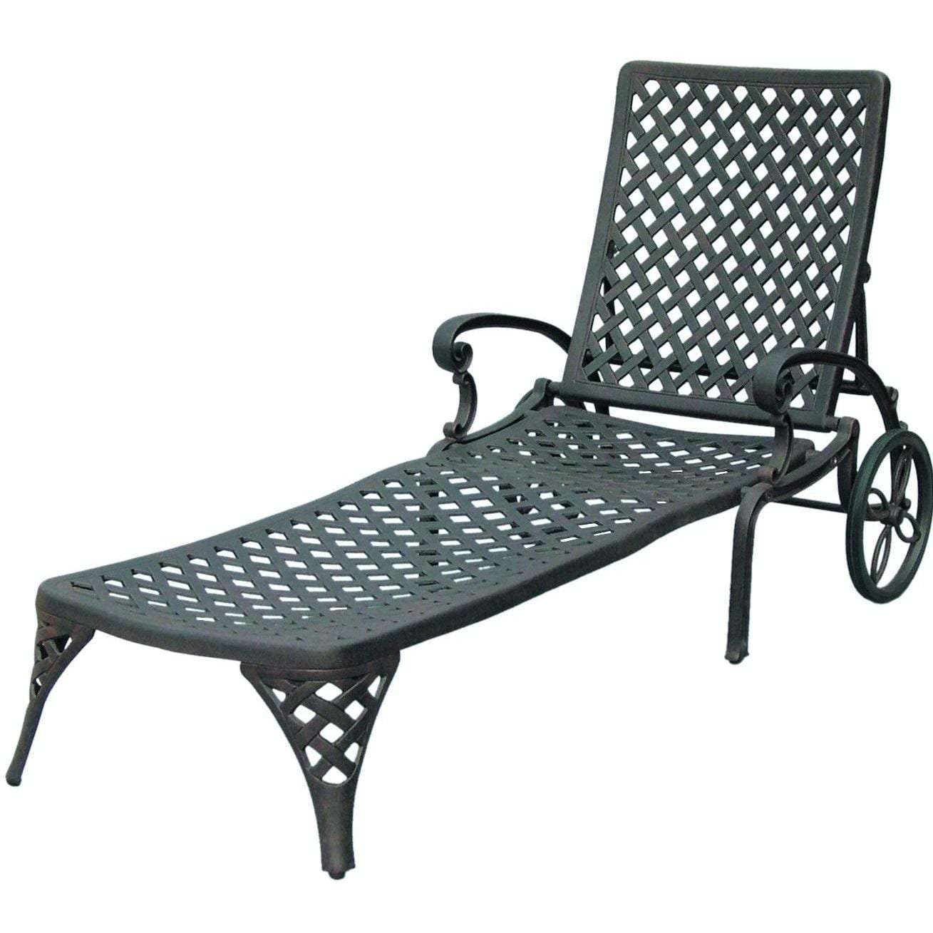 Darlee Nassau Cast Aluminum Patio Chaise Lounge