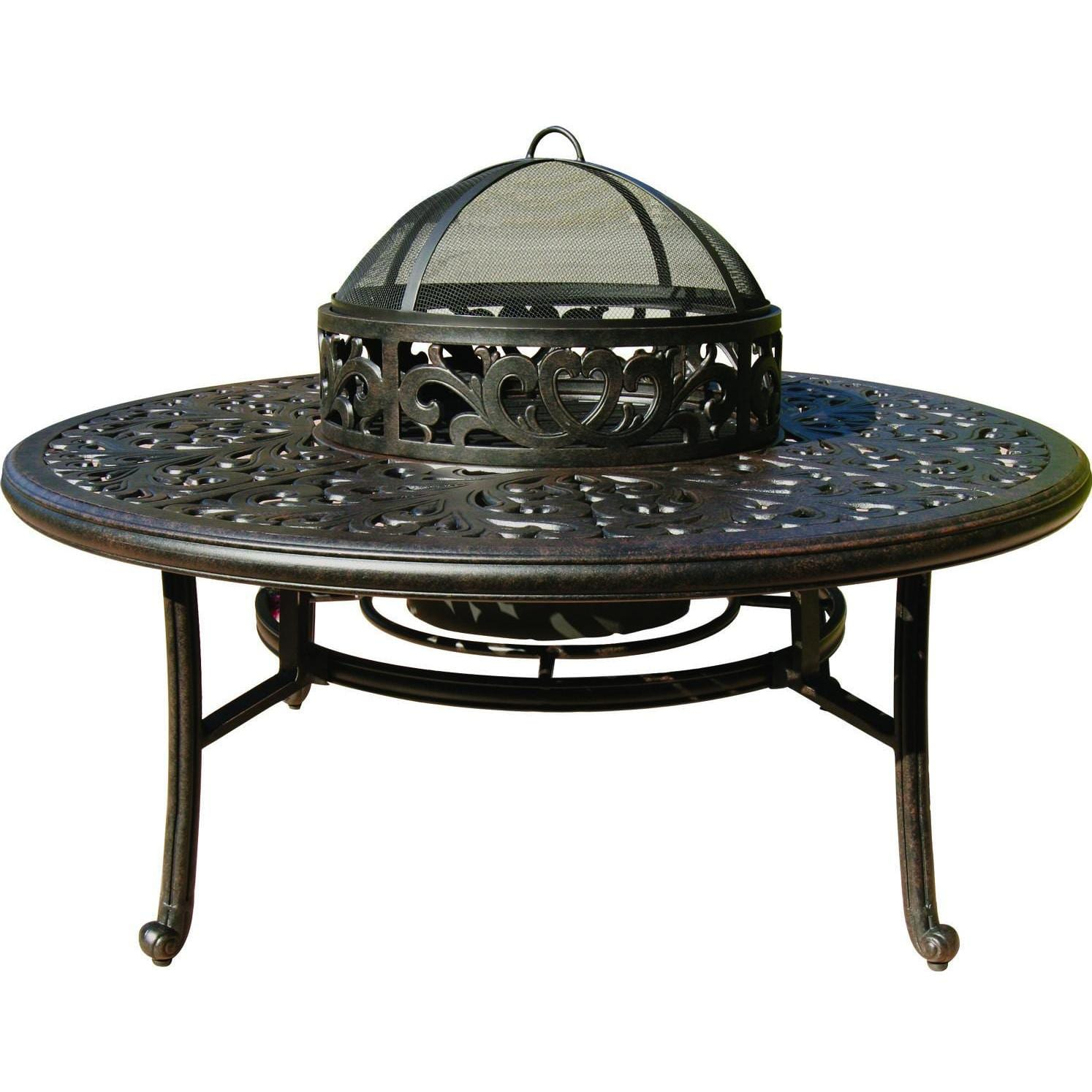 Darlee Series 80 52-Inch Cast Aluminum Patio Fire Pit Table