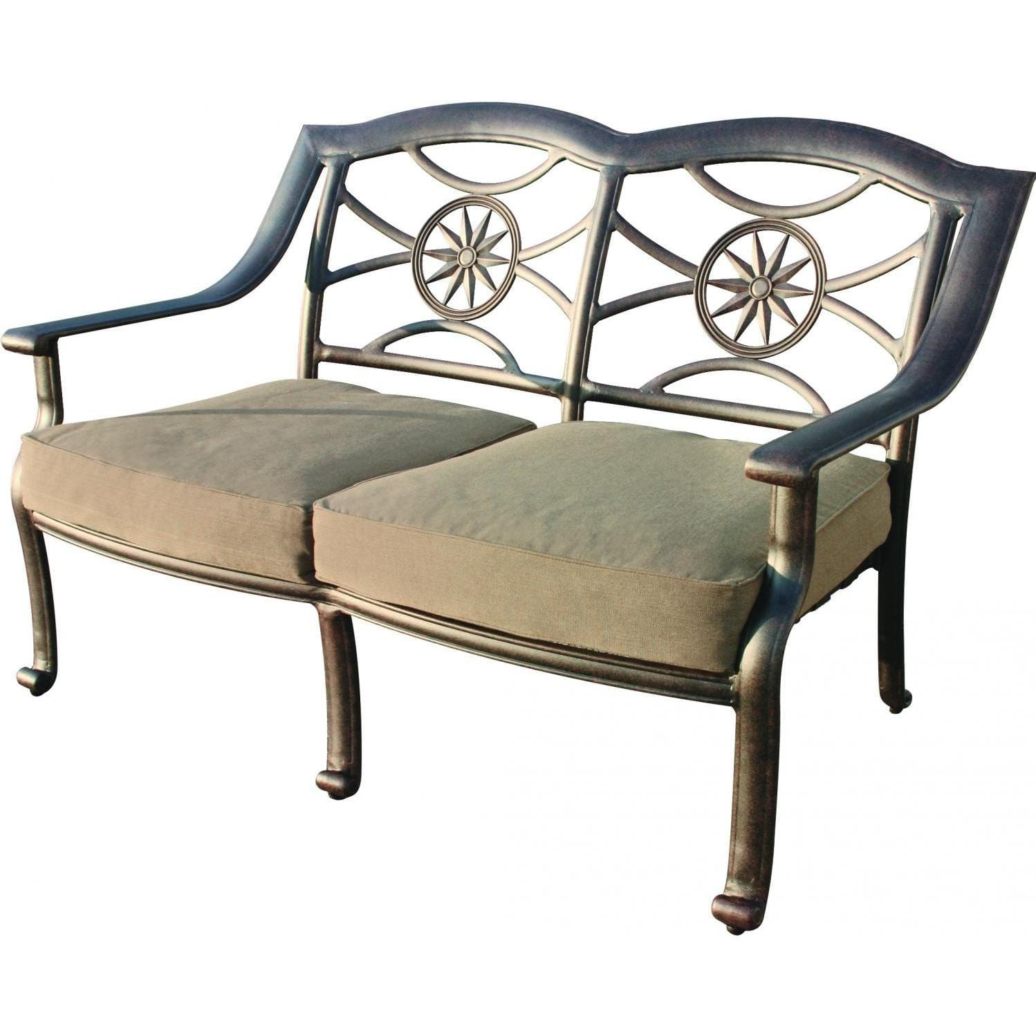 Darlee Ten Star Cast Aluminum Patio Loveseat